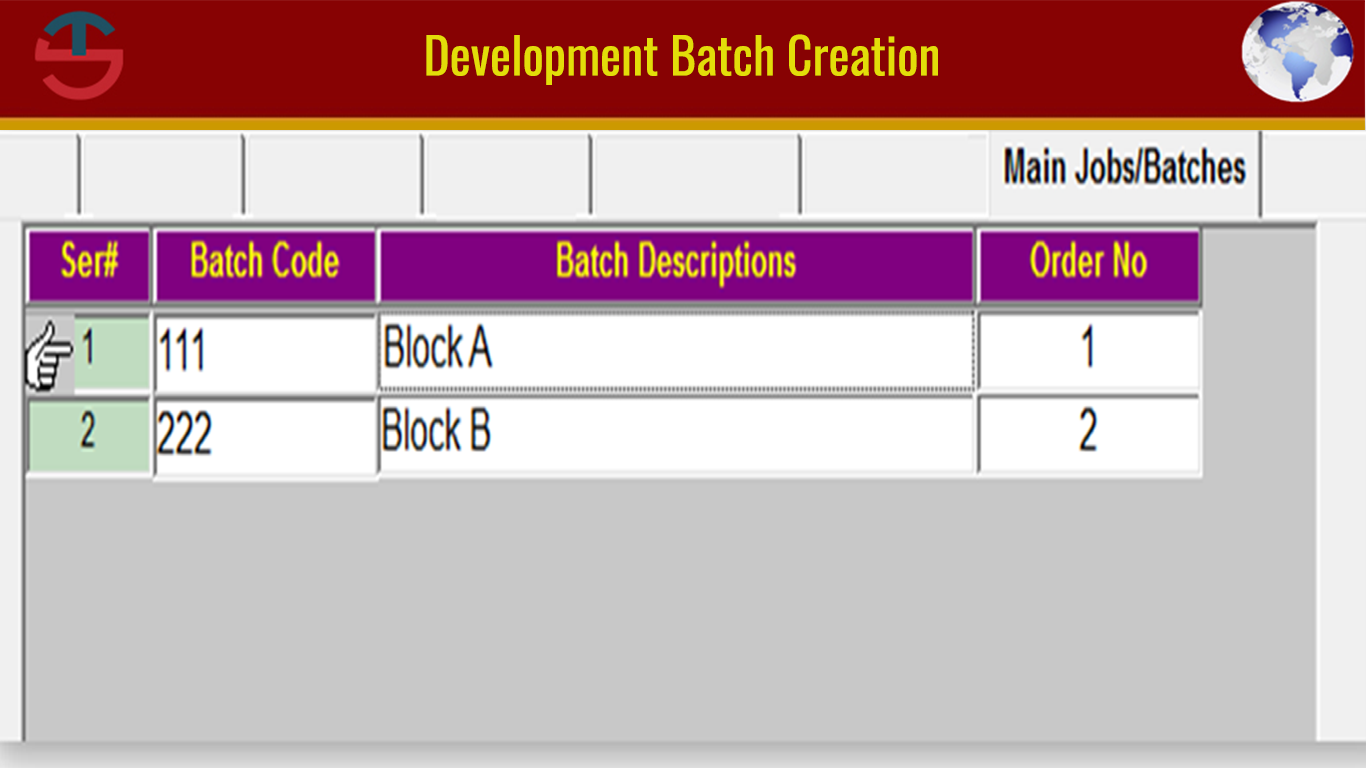 Development Batch Creation